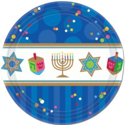 "Hanukkah Celebrate 7"" Plates - 1"