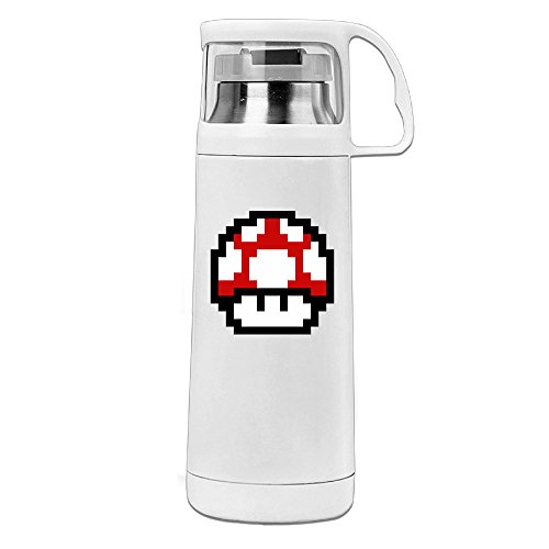 MARC Stainless Steel Vacuum Insulated Drink Cup Mario Insulated Travel Coffee Mug White 14oz/350ml