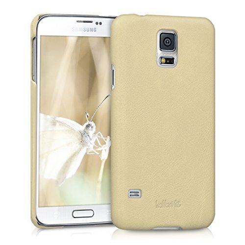 kalibri-Backcover-Hlle-aus-Echtleder-fr-Samsung-Galaxy-S5-S5-Neo-S5-Duos-in-Beige