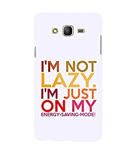 Iam Not A Lazy 3D Hard Polycarbonate Designer Back Case Cover for Samsung Galaxy On7 Pro :: Samsung Galaxy ON 7 Pro