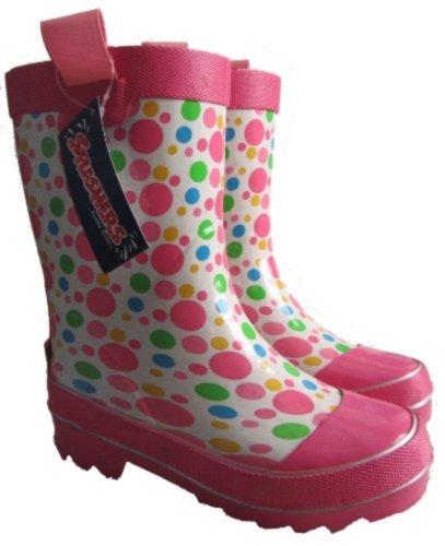 Splashers White/Pink Rain Boots