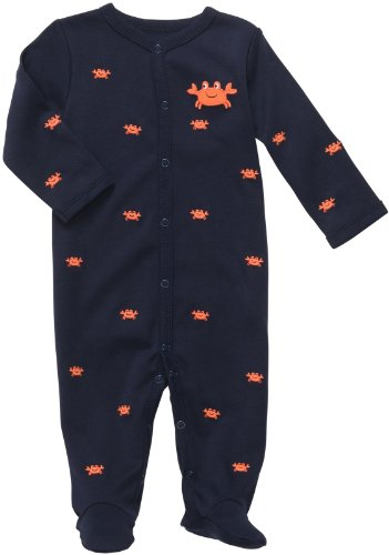 Carters Crab Snap Up Sleep & Play NAVY 6 Mo