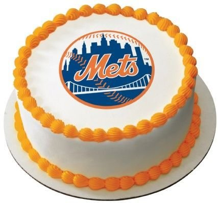 1/4 Sheet ~ MLB New York Mets Baseball Birthday ~ Edible Image Cake/Cupcake Topper!!!