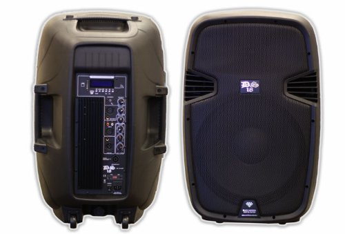 Ds18 Ds-Pa15Bt 15-Inch 2,000 Watts 2-Way Powered/Active Speaker Box With Bt/Fm/Usb/Sd/Eq/Mp3/Microphone And Wheels