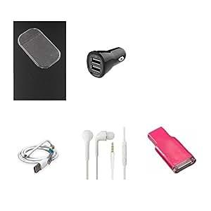 High Quality Combo of Car Anti Slip Mat - Transparent + 2 USB Car Charger + U...