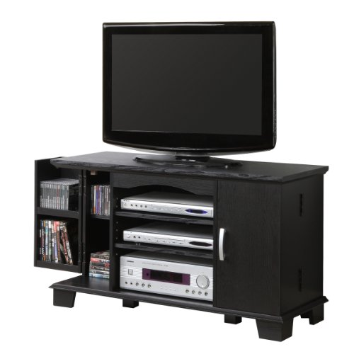 Cheap 42″ Wood TV Media Stand Console , Black (B008DZ1NW8)