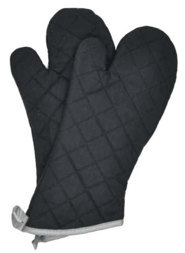 Flame Retardant Quilted Oven Mitts Commercial Grade (2-Pack)