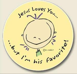 AutoCoaster ~ Jesus Loves You ~ Tile Drink Coaster for car cupholder ~ code 359
