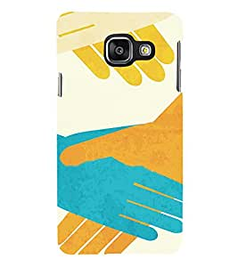 Join Hands Together 3D Hard Polycarbonate Designer Back Case Cover for Samsung Galaxy A3 :: Samsung Galaxy A3 Duos :: Samsung Galaxy A3 A300F A300FU A300F/DS A300G/DS A300H/DS A300M/DS