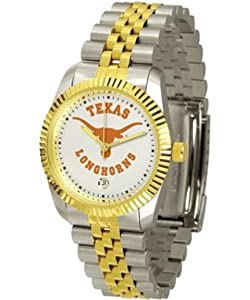 Texas Longhorns UT NCAA Mens Steel Executive Watch by SunTime