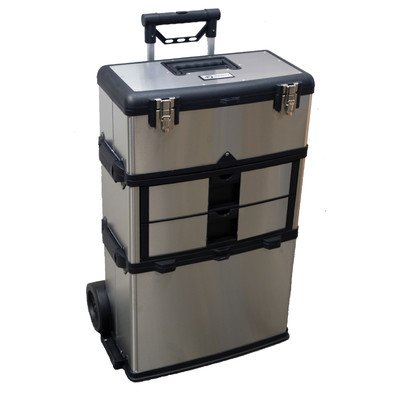 TRINITY 3-in-1 Stainless Steel Suitcase Toolbox