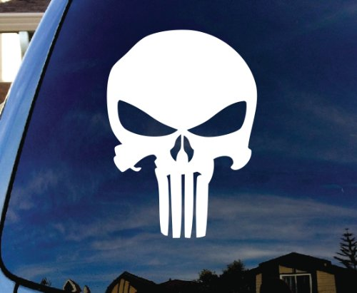 Punisher Skull Car Window Vinyl Decal Sticker 4