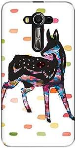 The Racoon Grip Oh Deer hard plastic printed back case/cover for Asus Zenfone 3 Laser Ze 520Kl