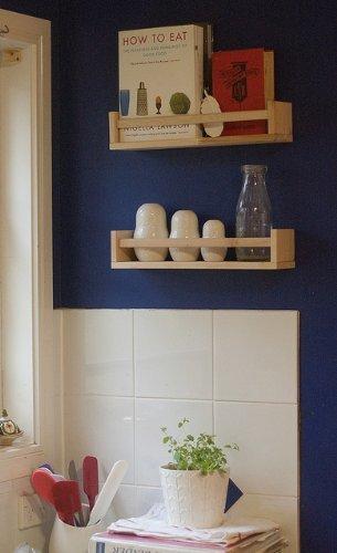 Ikea Variera Pot Lid Organiser ~ Ikea un estante de madera Especias Nursery Book Kids Soporte estante