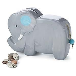 Mud pie ceramic elephant piggy bank gray toy banks baby - Ceramic elephant piggy bank ...