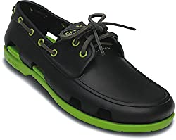 Crocs Men's Ocean and White Boat Shoes - M11