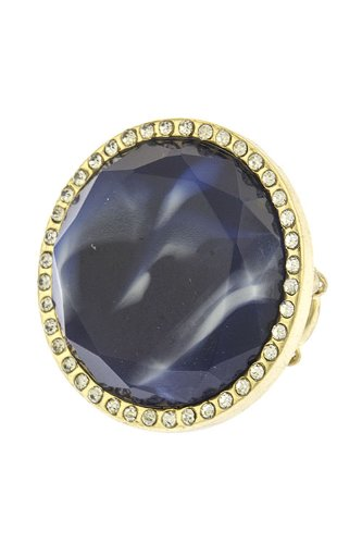 The Jewel Rack Crystal Tortoise Stone Ring (Blue)