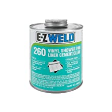 E-Z Weld 26004 Shower Pan Liner Cement, 32 Degree F to 110 Degree F Application Temperature, 32 fl oz Can, Vinyl (Case of 12)