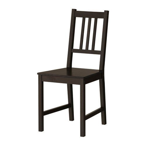 IKEA-Stuhl-Stefan-Holzstuhl-Kchenstuhl-aus-gebeizter-massiver-Kiefer-SCHWARZBRAUN