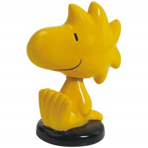 Charlie Brown Woodstock Sitting And Smiling Mini Bobble Figurine