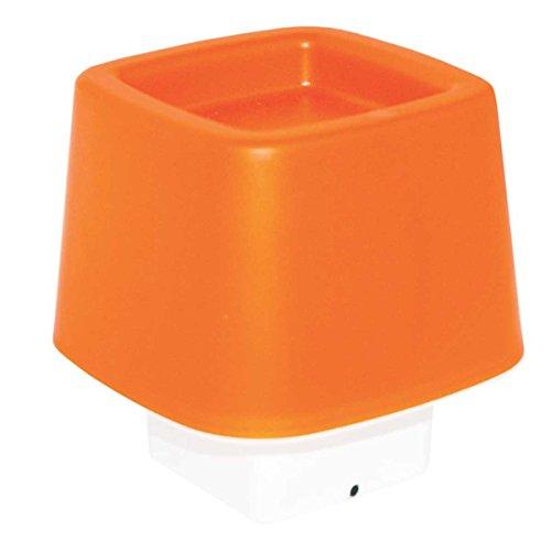 incidence-paris-10403-lampe-dambiance-forme-cube-tactile-polypropylene-orange