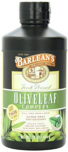Barlean's Organic Oils Olive Leaf Complex Peppermint Flavor, 16-Ounce Bottle (Oil Leaf Extract compare prices)