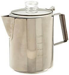 Rapid Brew Stainless Steel Stovetop Coffee Percolator, 2-12 cup made by Tops MFG. CO., Inc.