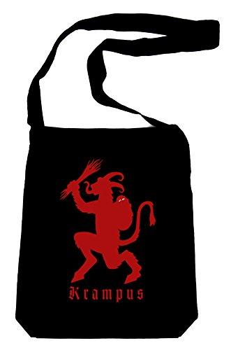 Christmas-Krampus-on-Black-Sling-Bag-Horror-Book-Bag