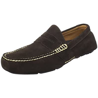 Polo Ralph Lauren Men's Telly Penny Loafer, Dark Brown Suede, 9.5 D US