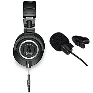 Audio-Technica ATH-M50x Professional Studio Monitor Headphones With in line mic