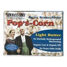 Newman'S Own Organics - Pop'S Corn Organic Microwave Popcorn Light Butter - 3 Pop & Serve Bags (2.8 Oz)