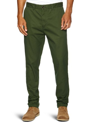 Farah Vintage The Chester Twill Drop Crotch Men's Trousers Seaweed W36 INxL32 IN