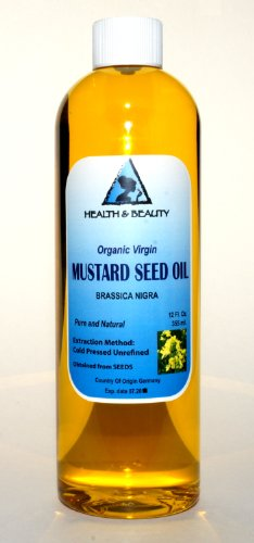 Mustard Oil Unrefined Organic Carrier Cold Pressed Pure 36 Oz front-538824