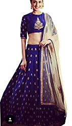 Designer Blue color Banglori Silk Embroidered Lehnga Choli with Heavy Net Dupatta