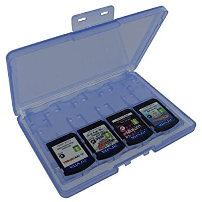 Assecure blue 18 in 1 Game & Memory Card Holder Case Storage Box for Sony PS Vita PSV [Playstation Vita] from Assecure