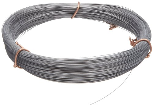 "Purchase High Carbon Steel Wire, #2B (Smooth) Finish, Full Hard Temper, ASTM A228, 0.020"" Diame..."