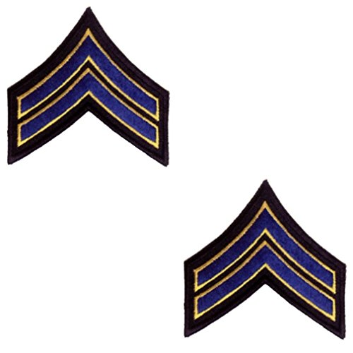 2 CORPORAL CHEVRON POLICE ARMY MILITARY SECURITY UNIFORM INSIGNIA PATCH