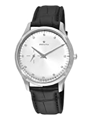 Zenith Men's 03.2010.681/02.C493 Elite Silver Sunray Diamond Dial Watch