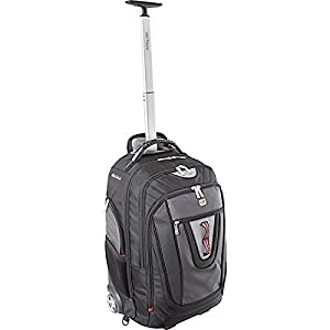 Brio Laptop Wheeled Backpack Black / Grey (Up to 17in) - Gino Ferrari