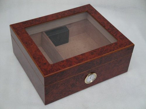 Humidor hold 25 cigars glass top