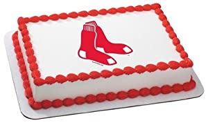 1/8 Sheet ~ MLB Boston Red Sox Baseball ~ Edible Image Cake/Cupcake Topper!!!