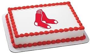 "6"" Round ~ MLB Boston Red Sox Baseball ~ Edible Image Cake/Cupcake Topper!!!"