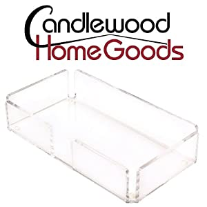 Candlewood Home Goods Acrylic Univesal Napkin Guest Towel Holder (Side Opening) for... by Simulinen