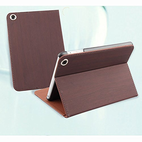 Bcl13 Protective Case Wooden Cover Folio Sleep Stand (For Ipad Air, Coffee)