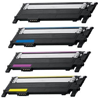 Triple Best® Set of 4 Compatible Laser Toner Cartridges for Samsung CLT-K406S C406S M406S Y406S Toner Cartridges