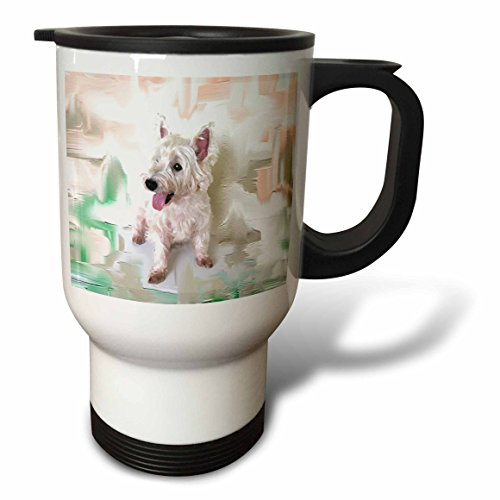 3dRose Westie Travel Mug, 14-Ounce