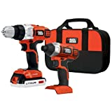 BLACK+DECKER BDCD220IA-1 20-volt Max Drill/Driver and Impact Driver with - BDCD220IA1 (Color: black)