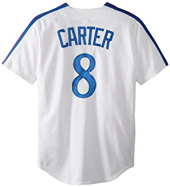 MLB Gary Carter Montreal Expos 1982 Cooperstown Short Sleeve Synthetic Replica Jersey by Majestic