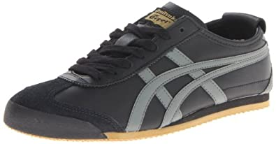 Onitsuka Tiger Unisex Mexico 66 Black/Grey/Gold Casual Shoe 13 Men US
