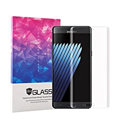 Note 7 Screen Protector, DeroTech Full Screen Coverage Tempered Glass Screen Protector for Samsung Galaxy Note 7, Transparent